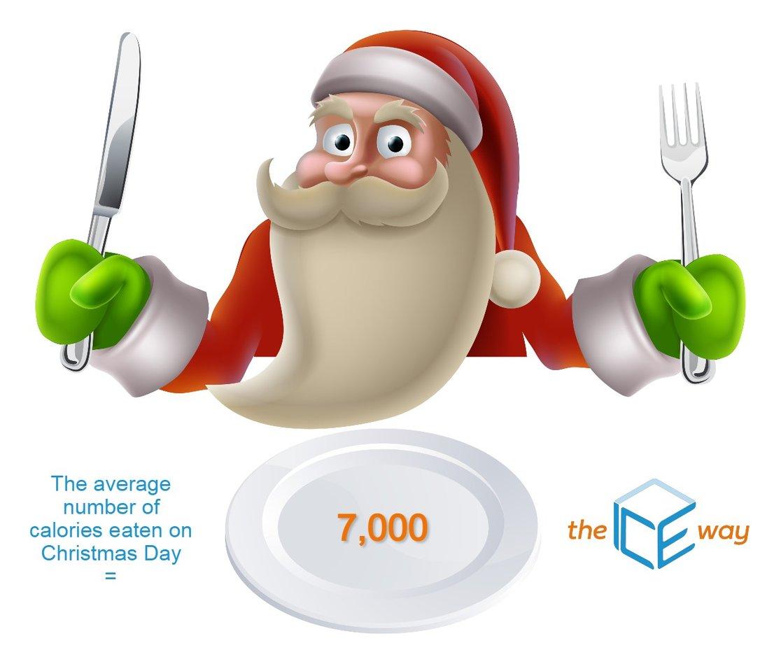 Santa Eating 7000 Calories (Original artwork by Christos Georghiou)